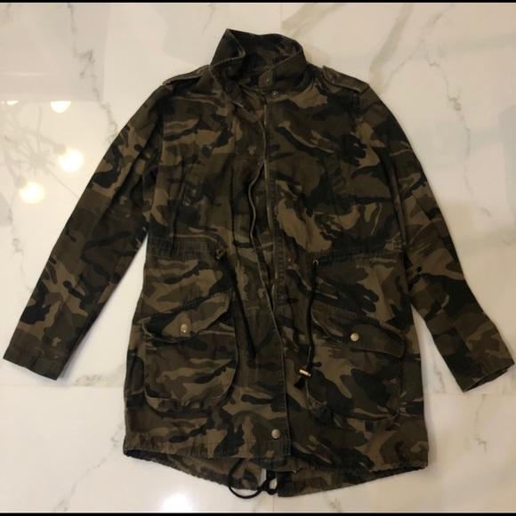 Forever 21 Camouflage Utility Jacket Size: S